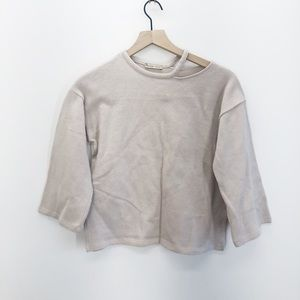 Zara Crew Neck Cut Out Sweater